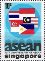 [The 10th Anniversary of Association of South East Asian Nations or A.S.E.A.N., type IO]