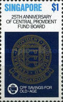 [The 25th Anniversary of Central Provident Fund Board, type LF]