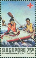 [The 75th Anniversary of Boy Scout Movement, type MX]