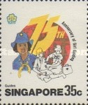 [The 75th Anniversary of Girl Guide Movement, type PK]