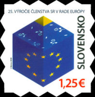 [The 25th Anniversary of Slovak Membership of the European Council, Typ ABP]