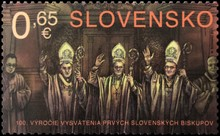 [The 100th Anniversary of the Ordination of the First Slovak Bishops, type AEF]