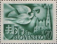 [European Postal Congress - Peace Dove & St. Stephen's Cathedral, type AL]