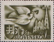 [European Postal Congress - Peace Dove & St. Stephen's Cathedral, type AL1]