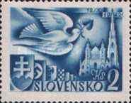 [European Postal Congress - Peace Dove & St. Stephen's Cathedral, type AL2]