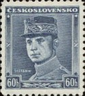 [Czechoslovakian Postage Stamp in New Color, Typ B]