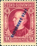 [Andrej Hlinka - Not Issued Stamps Overprinted