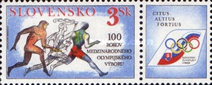[The 100th Anniversary of the International Olympic Movement, type DG]