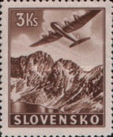 [Airmail - Airplanes over Mountain Landscapes, type M1]