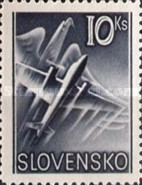 [Airmail - Airplane & Eagle, type W1]