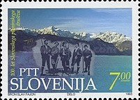 [The 100th Anniversary of the Slovenian Alpine Society, type AD]