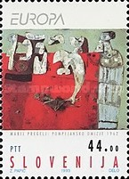 [EUROPA Stamps - Contemporary Art, type AI]