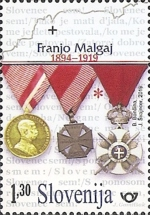 [The 125th Anniversary of the Birth of Franjo Malgaj, 1894-1919, type ARB]