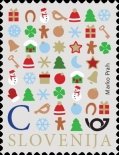 [New Year Symbols - Size: 24 x 31mm, type ASD]