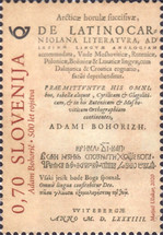 [The 500th Anniversary of the Birth of Adam Bohoric, 1520-1598, type ASM]