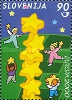 [EUROPA Stamps - Tower of 6 Stars, type KE]