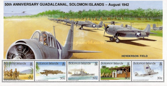 [The 50th Anniversary of Battle of Guadalcanal, type ]