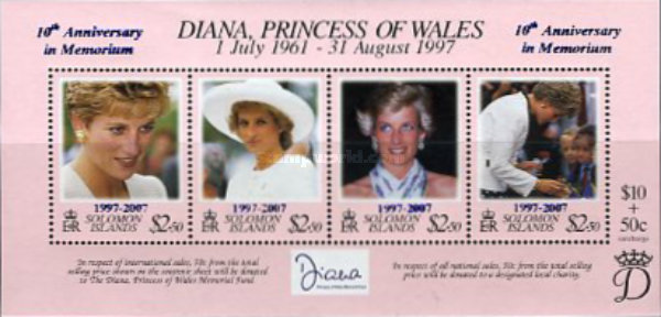 [The 10th Anniversary of the Death of Princess Diana, 1961-1997, Typ ]