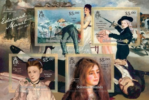 [Paintings - The 180th Anniversary (2012( of the Birth of Édouard Manet, 1832-1883, type ]