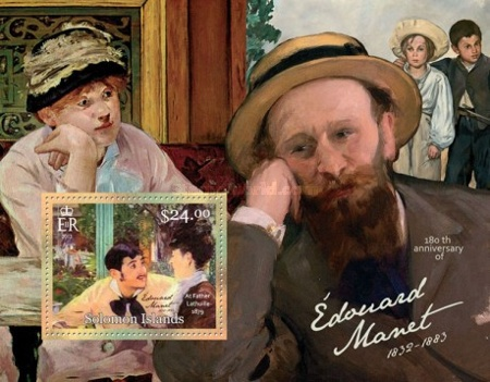 [Paintings - The 180th Anniversary (2012( of the Birth of Édouard Manet, 1832-1883, Typ ]