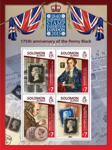 [EUROPHILEX Stamp Exhibition - London 2015 - The 175th Anniversary of the Penny Black, type ]