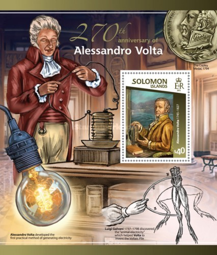 [The 270th Anniversary of the Birth of Alessandro Volta, 1745-1827, type ]