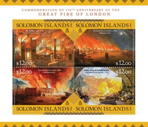 [Commemoration of the 350th Anniversary of the Great Fire of London, Typ ]