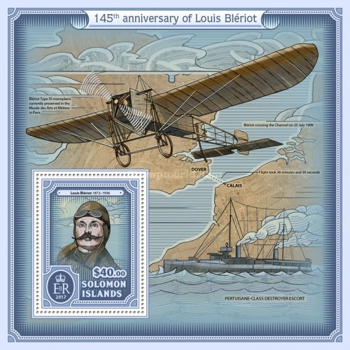 [The 145th Anniversary of the Birth of Louis Bleriot, 1872-1936, type ]