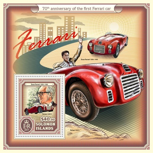 [The 70th Anniversary of the First Ferrari Car, type ]