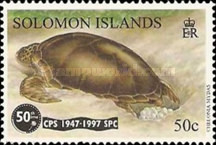 [The 50th Anniversary of the South Pacific Commission - Common Green Turtle, Typ ADL]