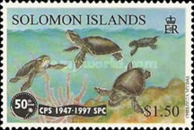 [The 50th Anniversary of the South Pacific Commission - Common Green Turtle, Typ ADN]