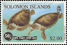 [The 50th Anniversary of the South Pacific Commission - Common Green Turtle, Typ ADO]
