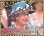 [The 50th Anniversary of Queen Elizabeth II Accession to the Throne - With Golden Frames, Typ AHX]