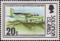 [The 50th Anniversary of First Flight to Solomon Islands, type GV]