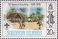 [The 50th Anniversary of Scouting in Solomon Islands, type II]