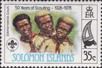 [The 50th Anniversary of Scouting in Solomon Islands, type IJ]