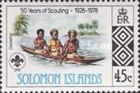 [The 50th Anniversary of Scouting in Solomon Islands, type IK]