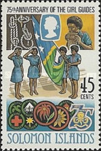 [The 75th Anniversary of Girl Guide Movement & International Youth Year, type PE]