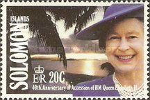 [The 40th Anniversary of Queen Elizabeth II's Accession, type XC]