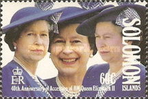 [The 40th Anniversary of Queen Elizabeth II's Accession, type XE]