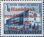 [Hungary Postage Stamp Overprinted, type A2]