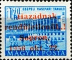 [Hungary Postage Stamp Overprinted, type D8]