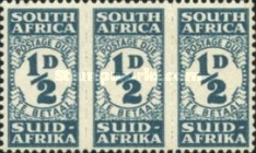 [Numeral Stamps - New Design in Blocks of 3, Typ D]