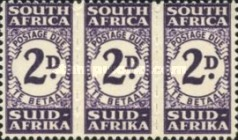 [Numeral Stamps - New Design in Blocks of 3, Typ D2]