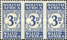 [Numeral Stamps - New Design in Blocks of 3, Typ D4]