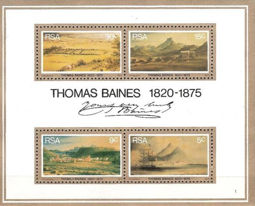 [The 100th Anniversary of the Death of Thomas Baines, Painter, Typ ]