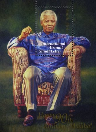 [Airmail - The 90th Anniversary of the Birth of Nelson Mandela, Typ ]