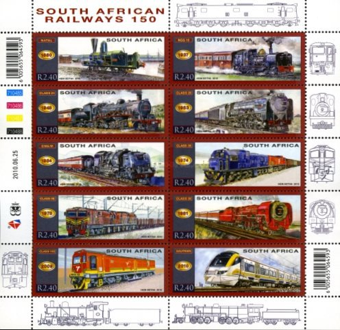 [Trains - The 150th Anniversary of South African Railways, Typ ]