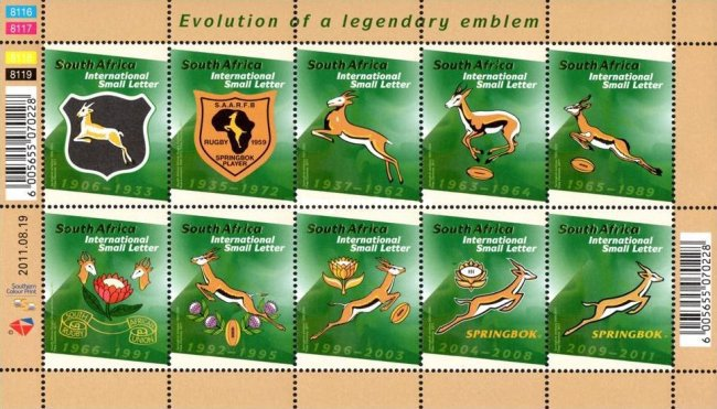 [South African Rugby Emblem 1906-2011, Typ ]