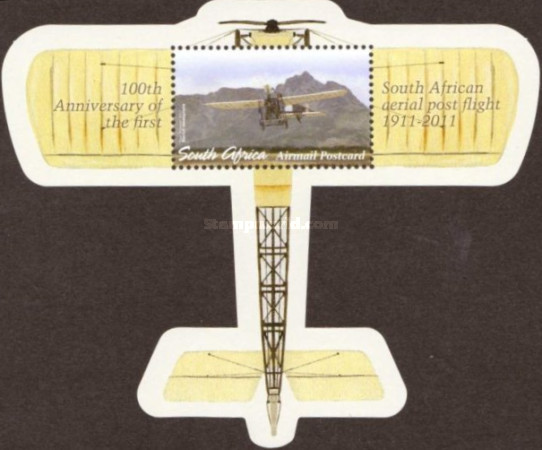 [The 100th Anniversary of the First South African Aerial Post Flight, Typ ]